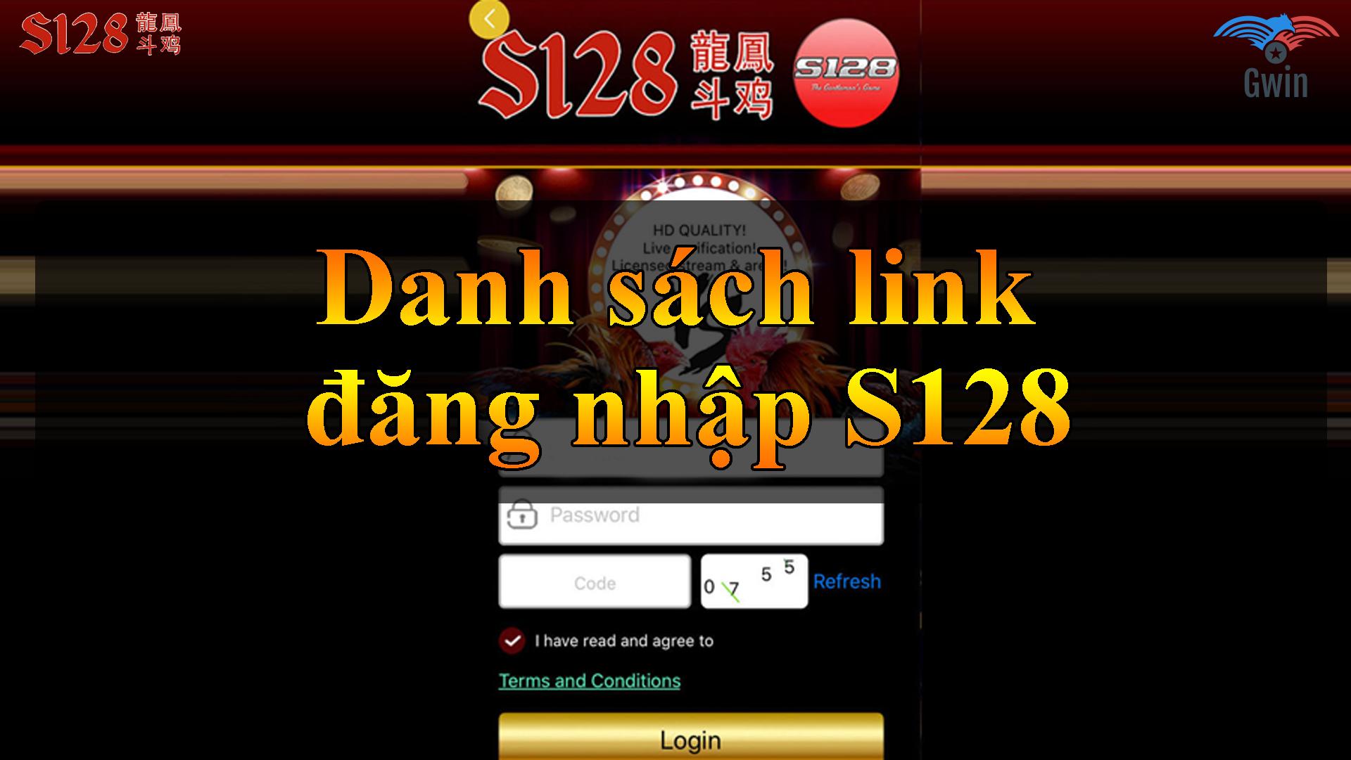 Danh sách link đăng nhập S128